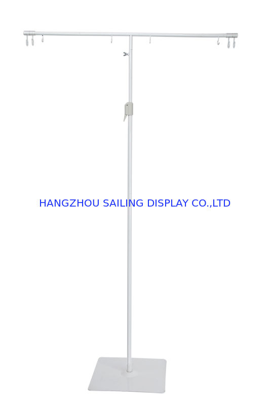 Adjustable Height POS Sign Holder Display Stand With White Powder Painting ผู้ผลิต
